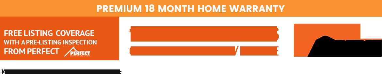 Premium 18 month home warranty